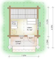 Sauna10 pohjapiirrustus